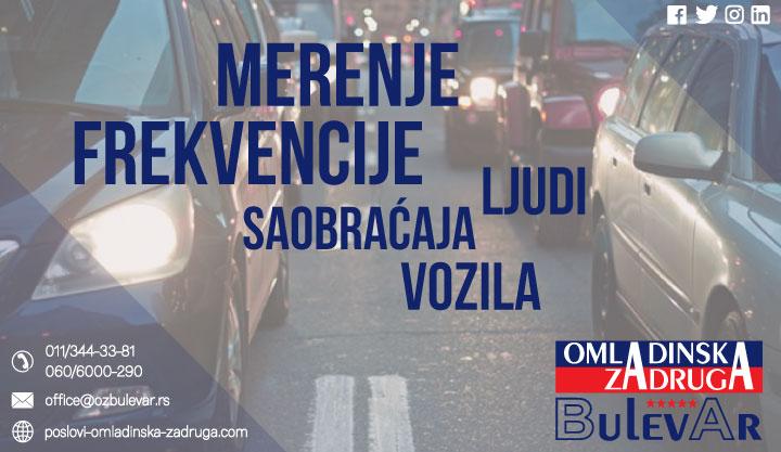 Brojanje saobraćaja - merenje frekvencije ljudi i vozila - Omladinska zadruga Bulevar