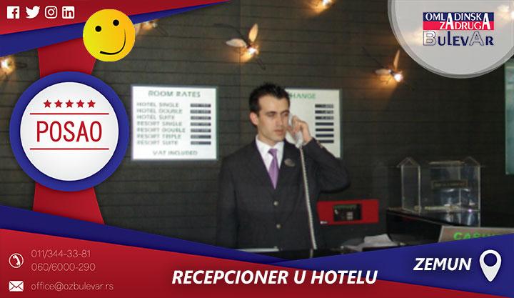 Rad na recepciji hotela | Zemun, naselje Galenika