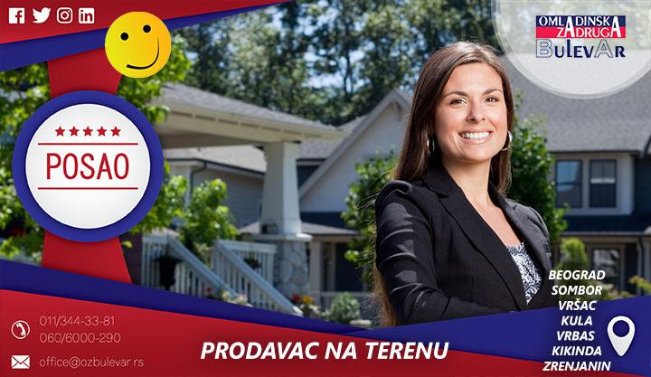 Prodavac na terenu | Beograd, Sombor, Vrbas, Kula, Vršac, Zrenjanin, Kikinda