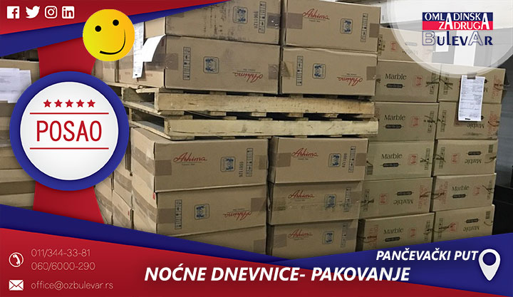 Noćne dnevnice - pakovanje i sortiranje pošiljki | Pančevački put