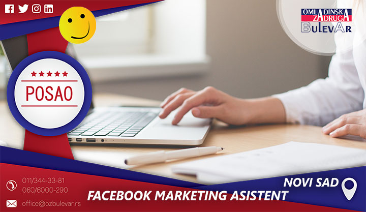 Facebook Marketing asistent / Poslovi, Novi Sad