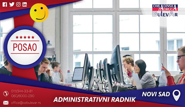 Administrativni radnik / Poslovi, Novi Sad