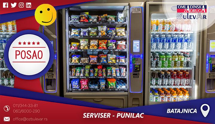 Serviser - Punilac / Poslovi , Batajnica, početna plata 40.000 din