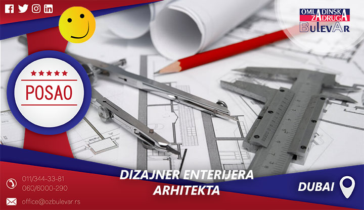 Dizajner enterijera - Arhitekta | Posao, Dubai
