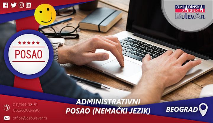 Administrativni posao (Nemački jezik) | Posao, Beograd