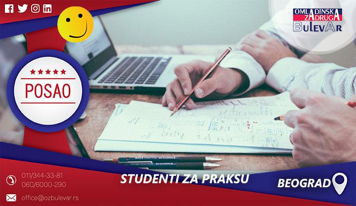 Studenti za praksu | Poslovi, Praksa, Beograd
