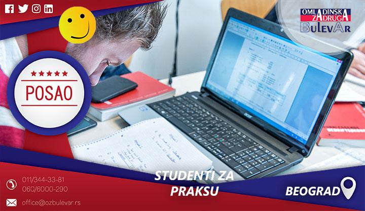 Praksa - administrator u kadrovskoj službi | Poslovi, Praksa, Beograd