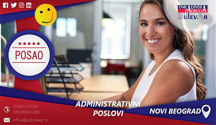 Administvni poslovi | Posao, Novi Beograd