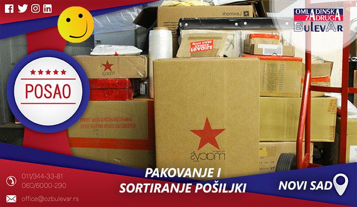 Pakovanje i sortiranje pošiljki | Posao, Novi Sad