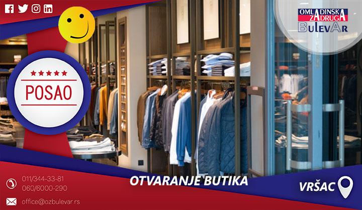 Otvaranje butika | Posao, Vršac