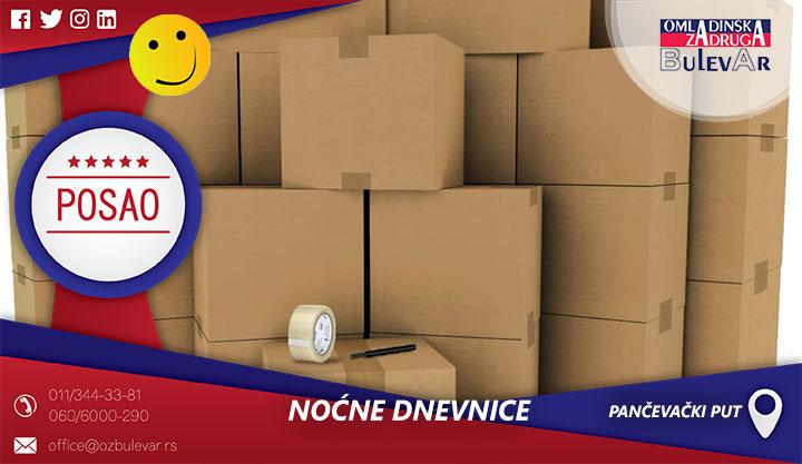Noćne dnevnice - pakovanje i sortiranje pošiljki | Posao, Pančevački put