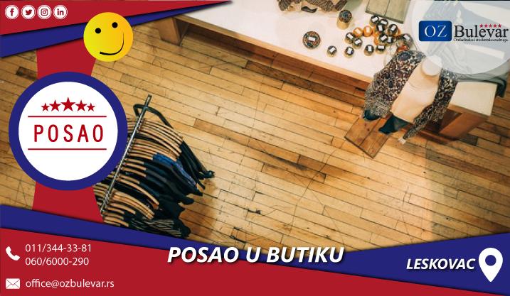 Rad u butiku | Posao, Leskovac