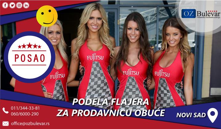 Podela letaka za prodavnicu obuće | Posao, Novi Sad
