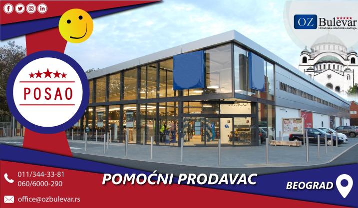 Pomoćni prodavac | Posao, Beograd