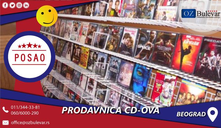 Prodavnica cd-ova | Posao, Beograd