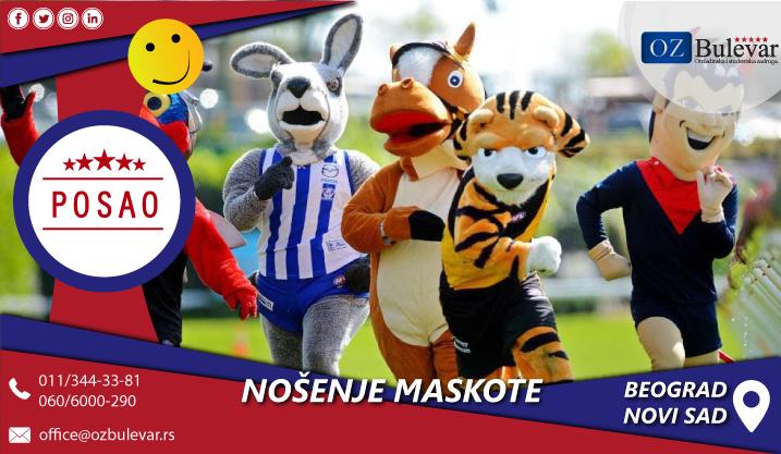 Nošenje maskote | Posao, Beograd, Beograd