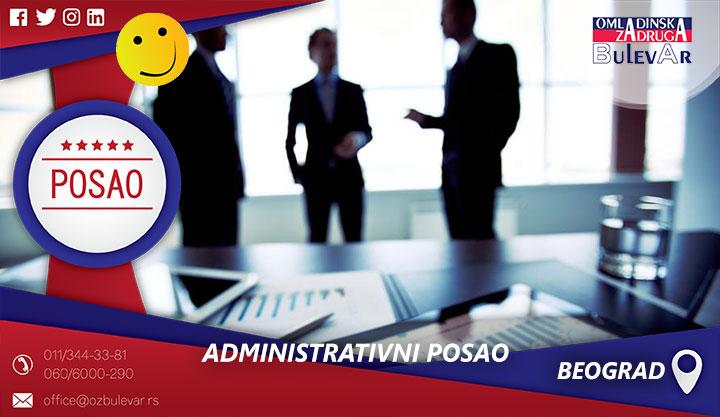 Administrativni posao | Posao, Beograd