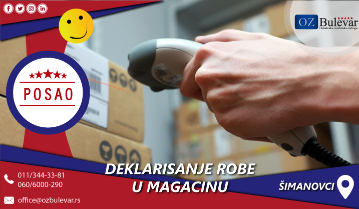 Deklarisanje robe u magacinu | Posao, Beograd