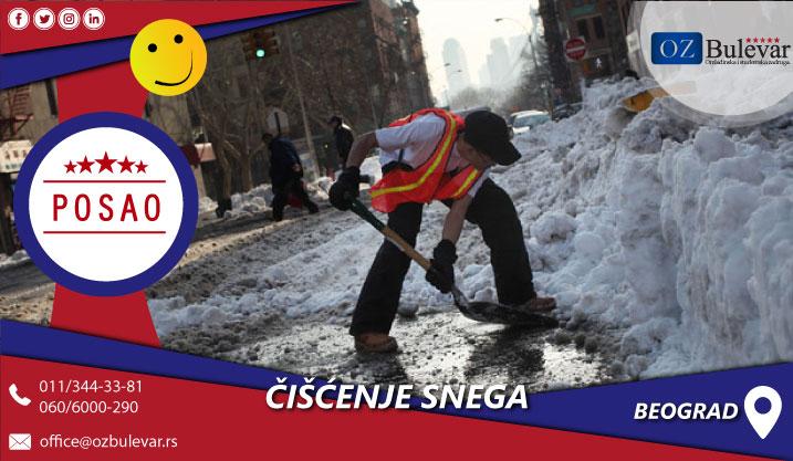 Čišćenje snega | Posao, Beograd
