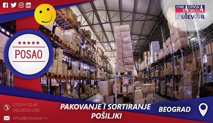 Pakovanje i sortiranje pošiljki | Posao, Beograd
