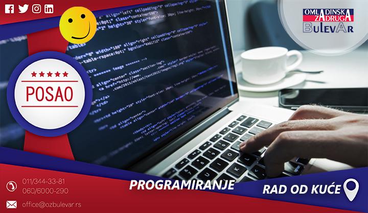 Programiranje | Oglasi za posao, Rad od kuće