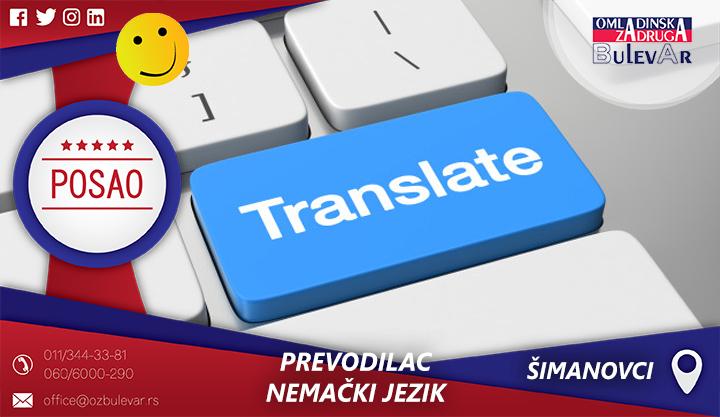 Prevodilac | Oglasi za posao, Šimanovci