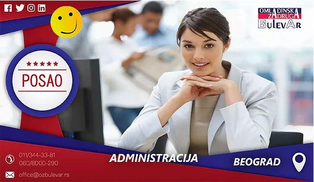 Administracija | Oglasi za posao, Beograd