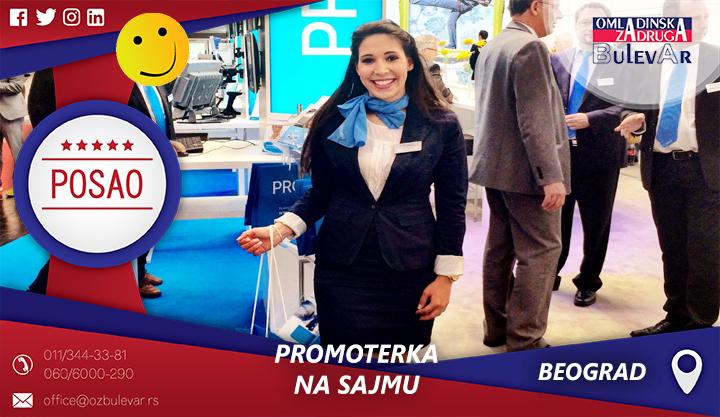 Promoterka na sajmu | Oglasi za posao, Beograd
