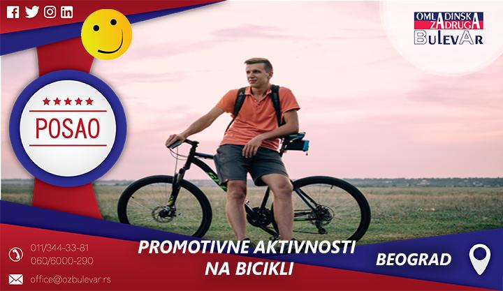 Promotivne aktivnosti na bicikli   Oglasi za posao, Beograd