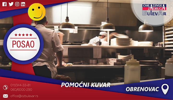 Pomoćni kuvar   Oglasi za posao, Obrenovac