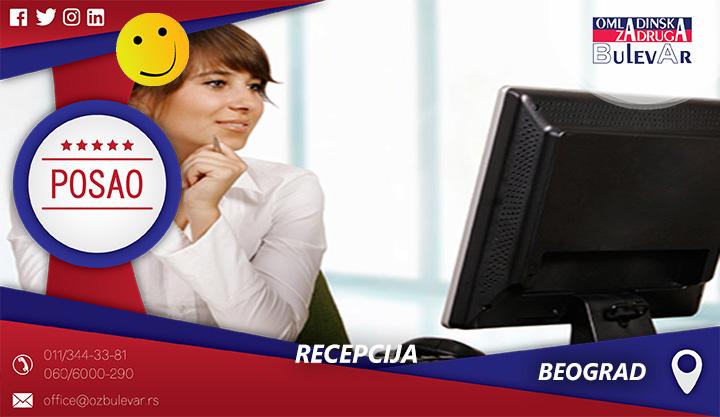 Recepcija | Oglasi za posao, Beograd