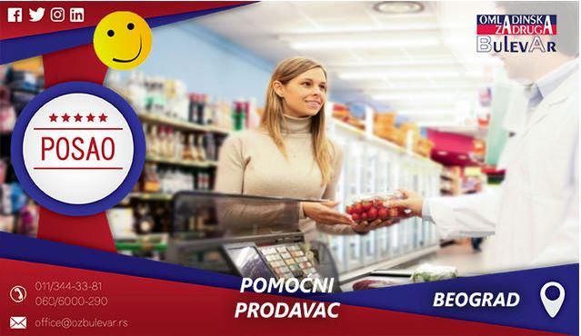 Pomoćni prodavac | Oglasi za posao, Beograd