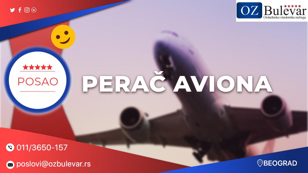 Perač aviona | Posao, Beograd