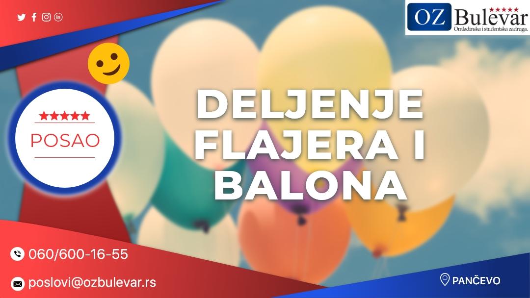 Deljenje flajera i balona | Oglasi za posao, Pančevo