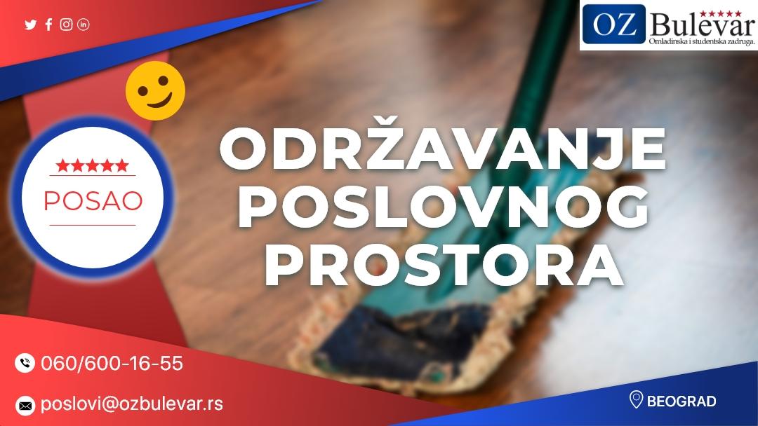 Održavanje poslovnog prostora | Oglasi za posao, Beograd