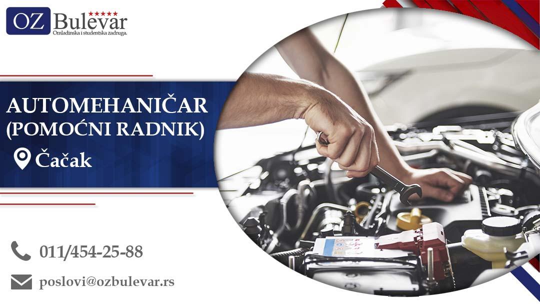 Automehaničar (Pomoćni radnik), Čačak