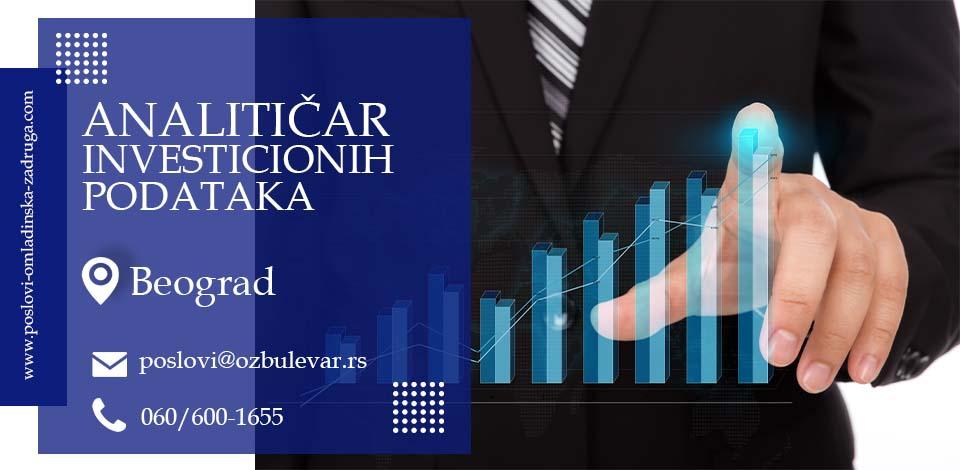 Analitičar investicionih podataka | Oglasi za posao, Beogard