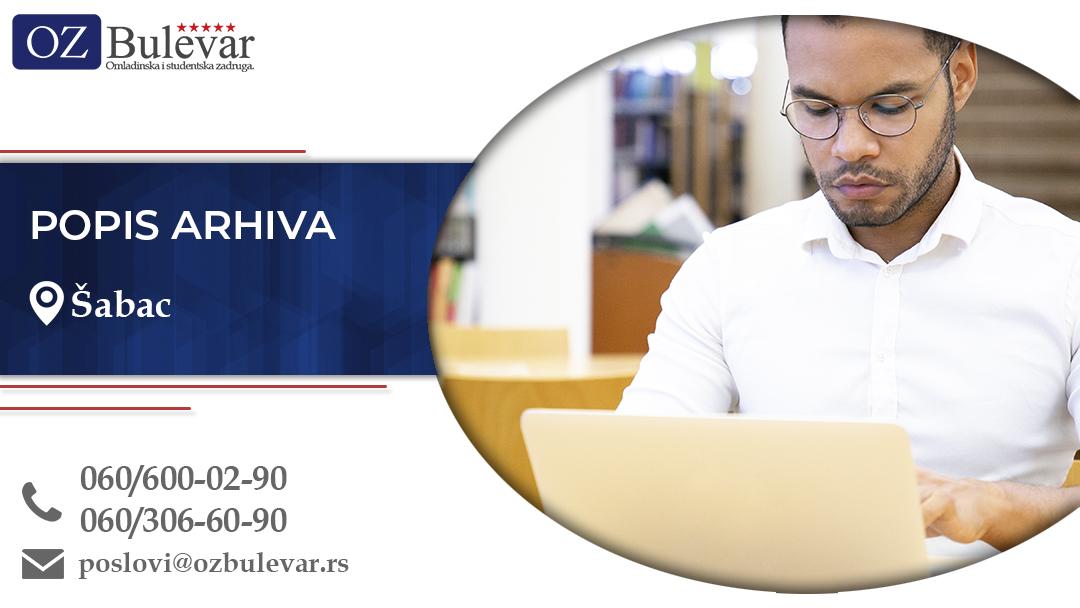 Popis arhiva | Oglasi za posao, Beograd