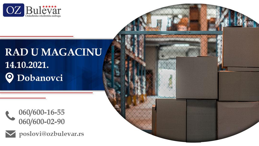 Rad u magacinu | Oglasi za posao, Dobanovci