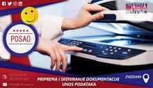 Skeniranja dokumenata(knjiga) i popunjavanje radnih listi