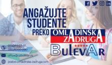 Ponuda usluga Omladinske zadruge Bulevar