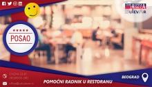 Pomoćni radnik/ca u restoranu | Beograd