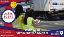 Frekvencije i brojanje saobraćaja | Posao, Meljak, Barič, Piroman, Ćelije, Slovac, Valjevo, Dići, Rudnik i Mladenovac
