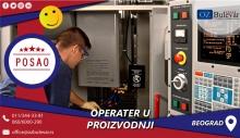 Operater u proizvodnji | Posao, Beograd