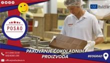 Pakovanje čokoladnih proizvoda   Posao, Beograd