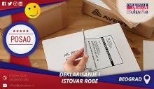 Deklarisanje i istovar robe | Poslovi, Beograd