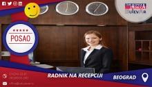 Rad na recepciji | Oglasi za posao, Beograd
