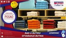 Rad u butiku - otvaranje butika | Oglasi za posao, Leskovac