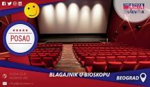 Blagajnik u bioskopu   Oglasi za posao, Beograd