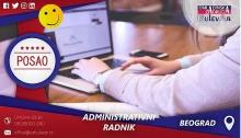 Administrativni radnik   Oglasi za posao, Beograd